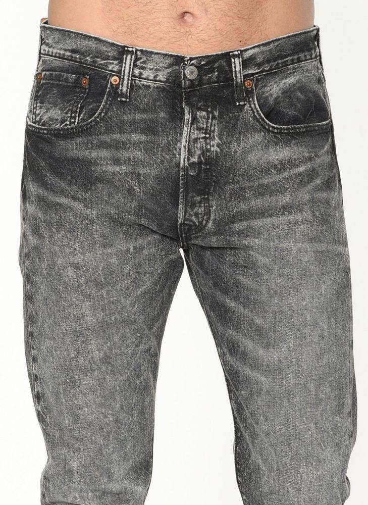 a5f33425 NEW men's LEVI 501 CT bulletproof Black. SLIM flt TAPERED LEG Jeans size  W34 L32