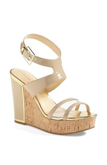 Every girl needs a strappy cork wedge this spring! #Ivanka Trump #HagleySandal #Nordstrom