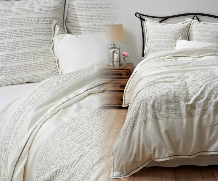 Anthropologie Fables & Feathers King Duvet Cover Aesop's moral-of-the-story
