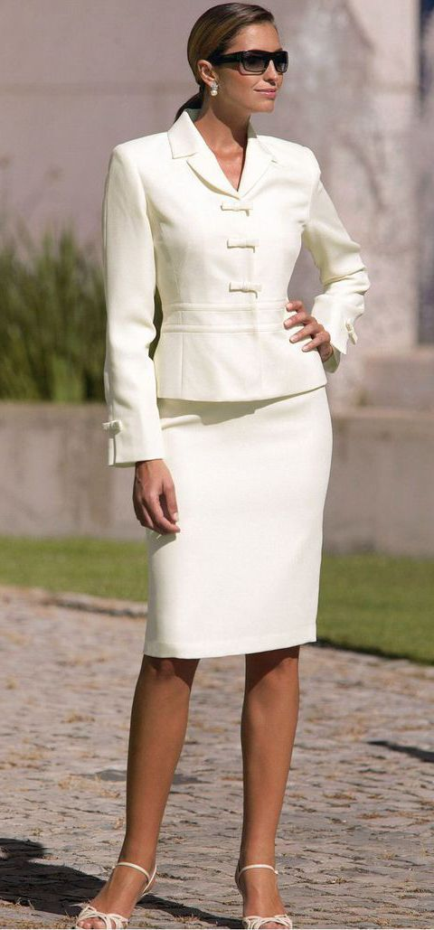 03870ba9d8dc 90's Inspired, Pencil Skirt Suit. | Timeless Style in 2019 | White ...