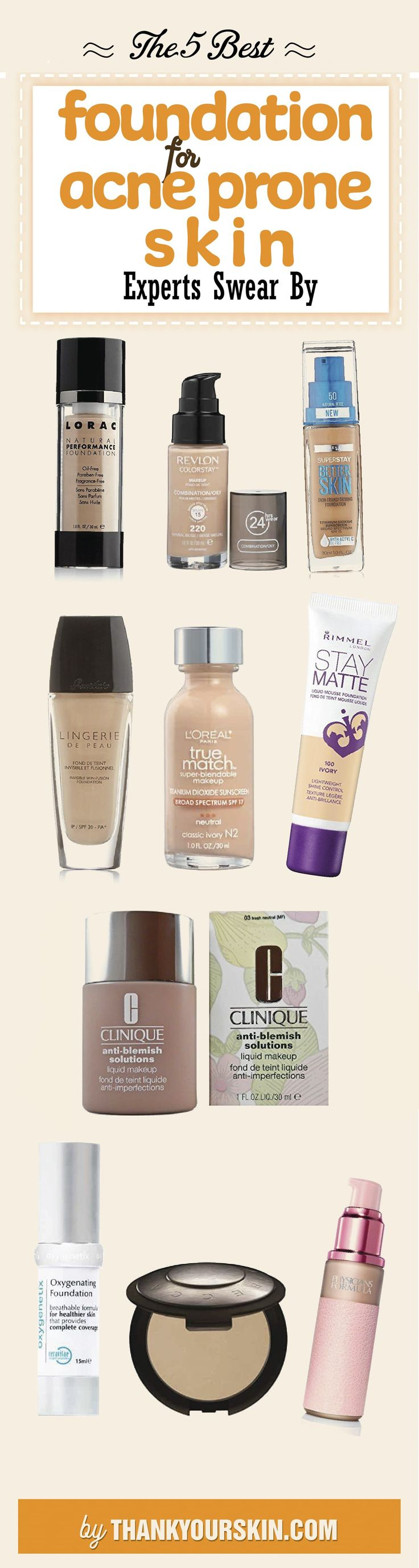Best Foundation for acne prone skin - How to apply - tips and tricks #Foundation #Acneproneskin #ThankYourSkin