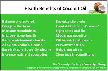The health benefits of coconut oil.  Protect your heart, your brain, and your immune system!