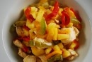 This easy low calorie dinner recipe for Pineapple Chicken Stir Fry with