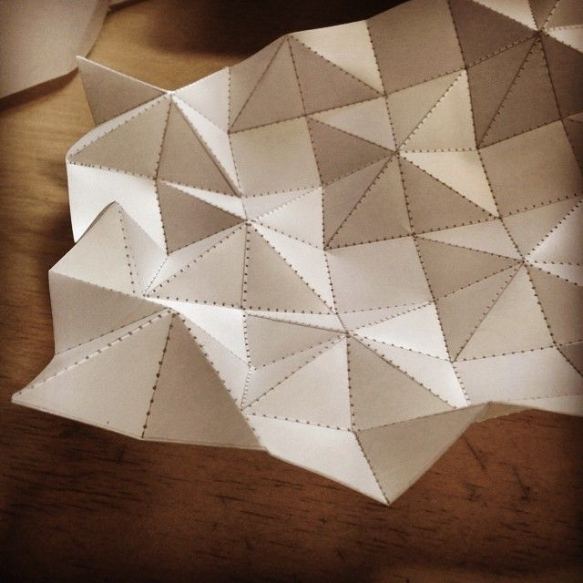 Texture research, this is how I like to spend rainy fridays // Edinas Paper Installations