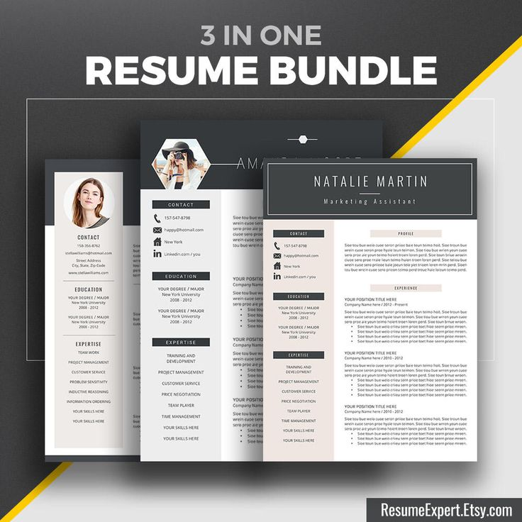 Professional Resume Template Bundle Cover letter Creative