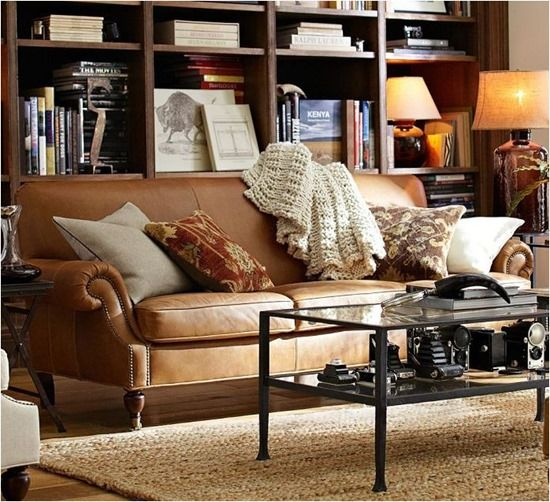 brooklyn sofa pottery barn - take a cue from the way retail stylists layer with pillows and throw blankets and then surround it with different furniture and artwork with varying colors and textures.