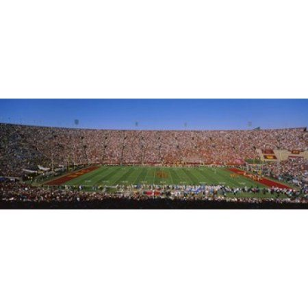 High angle view of a football stadium full of spectators Los Angeles Memorial Coliseum City of Los Angeles California USA Canvas Art - Panoramic Images (36 x 13)