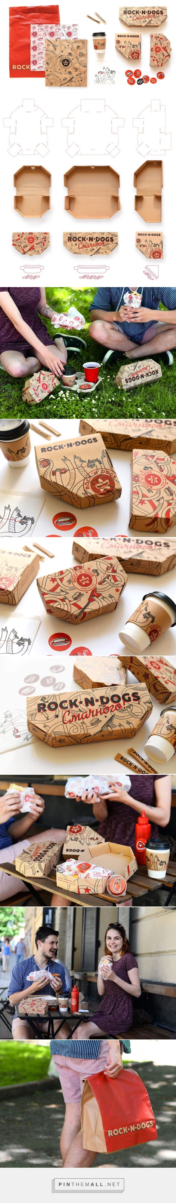 ROCK'N'DOGS - Takeaway Food Packaging (Student Project) - Packaging of the World - Creative Package Design Gallery - http://www.packagingoftheworld.com/2017/07/rockndogs-takeaway-food-packaging.html