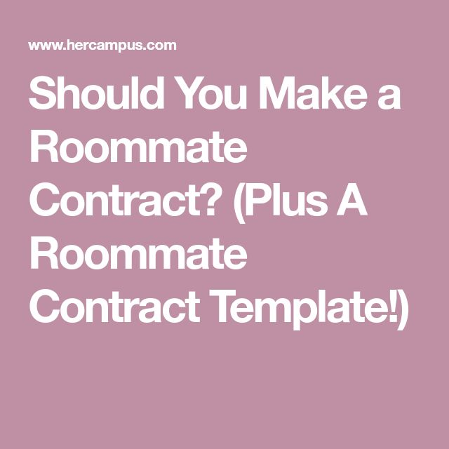 Best 25+ Roommate contract ideas on Pinterest Roommates, College - roommate agreement