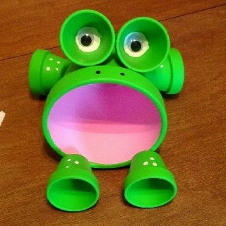 Frog clay pot!! :) by Tina Foster zwdUm