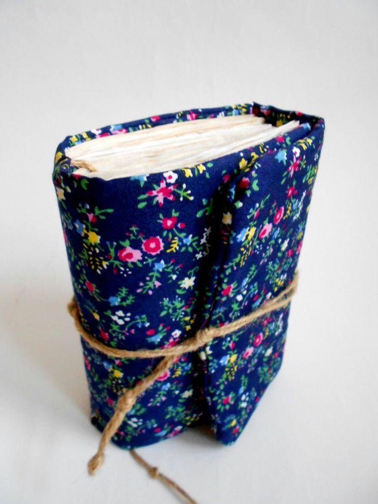 Dark blue flowers Journal, Handmade Diary, Travel Book, Old Paper, Pregnancy book by SashaLandia on Etsy https://www.etsy.com/listing/160486212/dark-blue-flowers-journal-handmade-diary