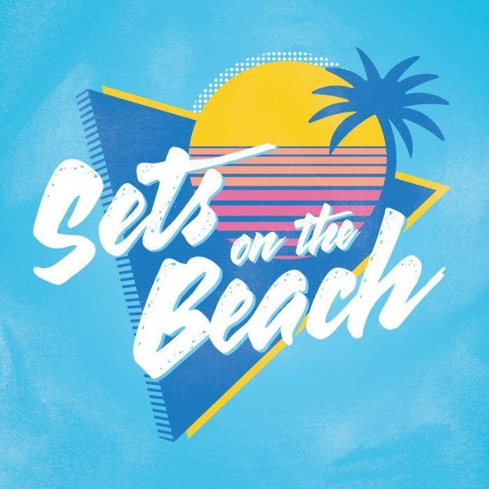 Sets on the Beach Art Print by Etznab | Society6