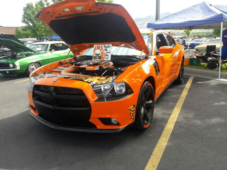 Custom 2014 Dodge Charger SXT and I did all work from upping horsepower to airbrushing the engine bay for shows.