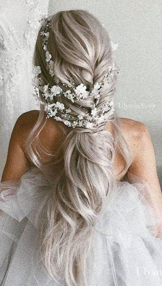 Bridal Flower Hair vine Extra Long Crystal and Pearl headpiece   WeddingManicure 490448a317f0