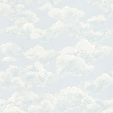 Casabella (JG0641) - Brewers Wallpapers - A charming design of light, fluffy clouds on a soft pastel-blue sky background. A perfect way to bring a English summer's day indoors, creating a graceful, rural and airy ambience! Please order sample for true colour and surface-print texture match.