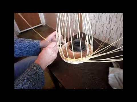 ▶ Плетение стенок веером(послойное плетение)-Weaving baskets walls - YouTube