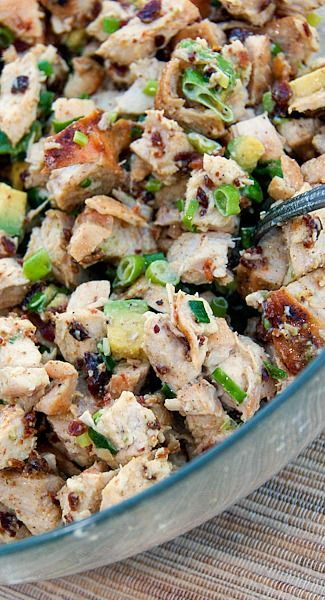Grilled Chicken, Bacon, and Avocado Salad #lowcarb  Chicken, Bacon: www.zayconfoods.c...