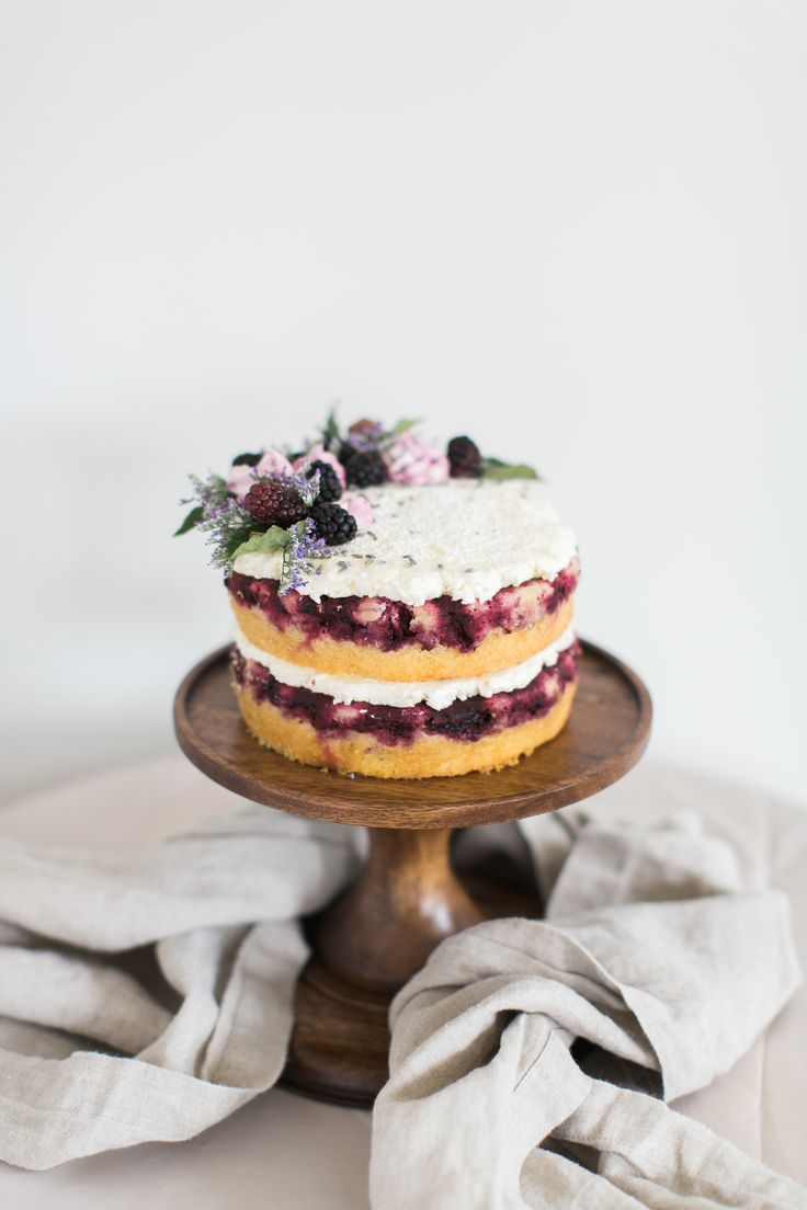 Blackberry + Lavender Cake