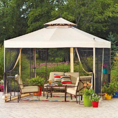Sunjoy Replacement Canopy for 10' W x 12' D Wicker Gazebo