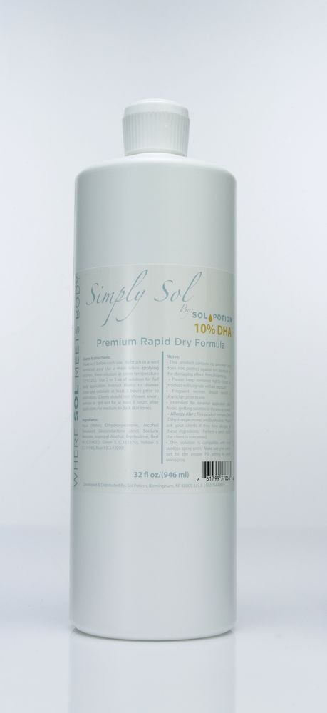 Sol Potion Quick Dry Formula Spray Tan Solution 10% DHA #SolPotion