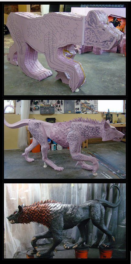 Oh the things you can make out of pink foam - Imgur