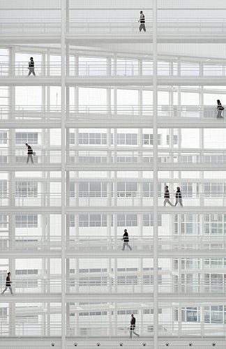 Richard Meier. City Hall, The Hague, The Netherlands. Architecture, modern, contemporary, inspiration, structure, city