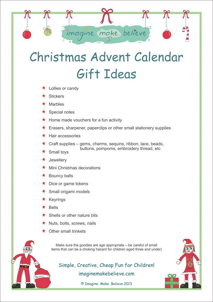 Advent Calendar Ideas Kids : Christmas advent calendar gift ideas