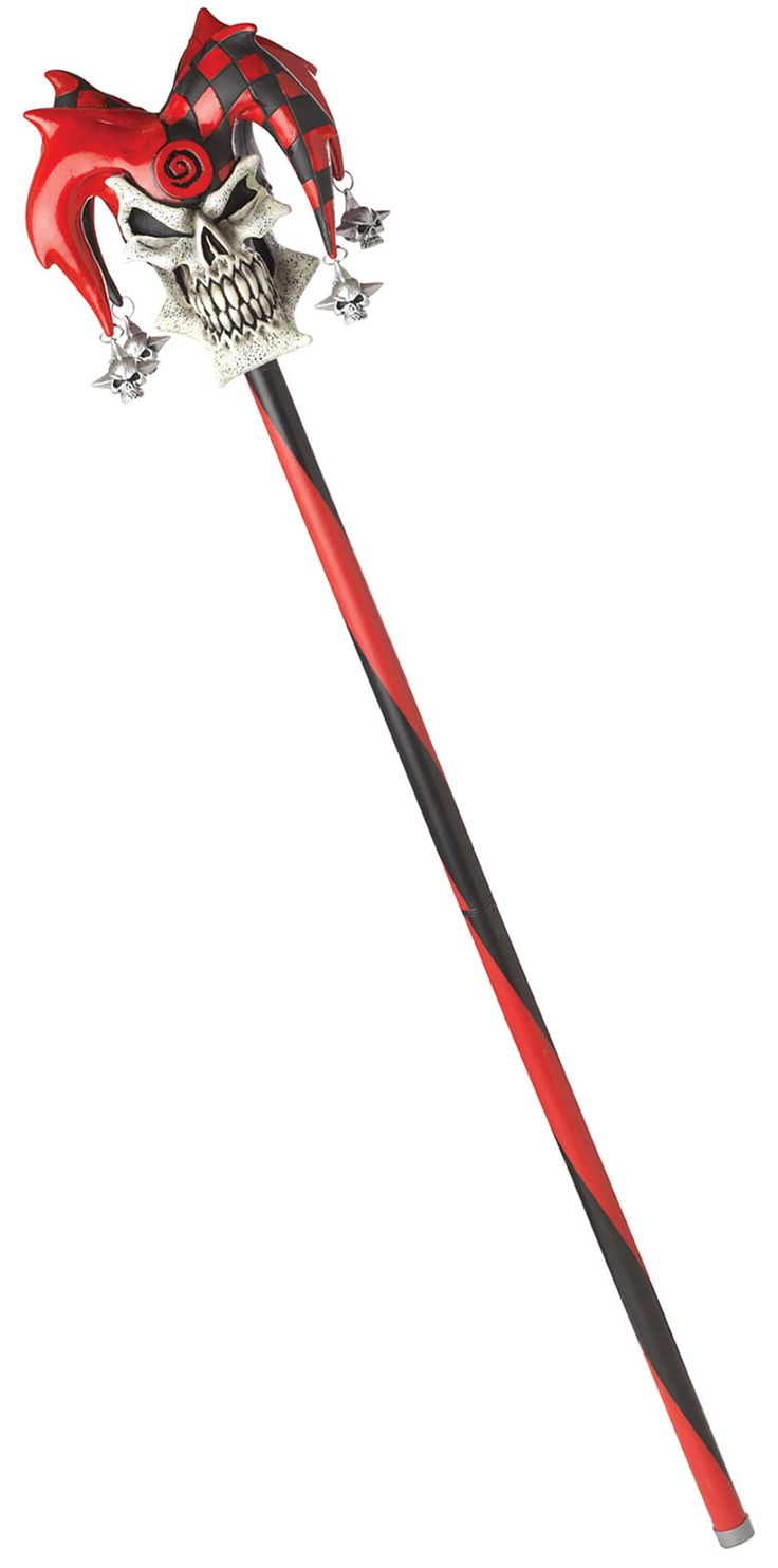 A Jester staff, but not quite like this - friendlier-looking