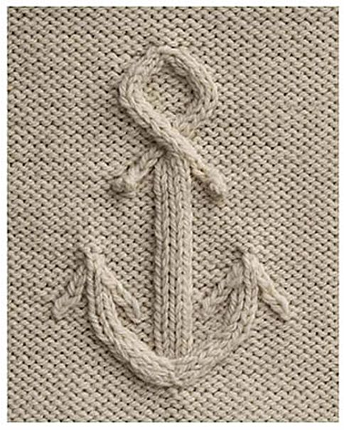 Anchor knitting stitch