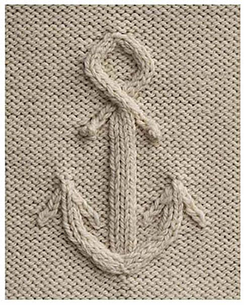 Anchor knitting stitch