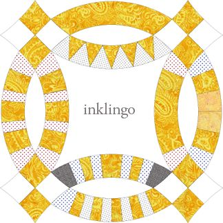 Inklingo Double Wedding Ring Arcs - Which Inklingo arc design to use? Decisions, decisions!