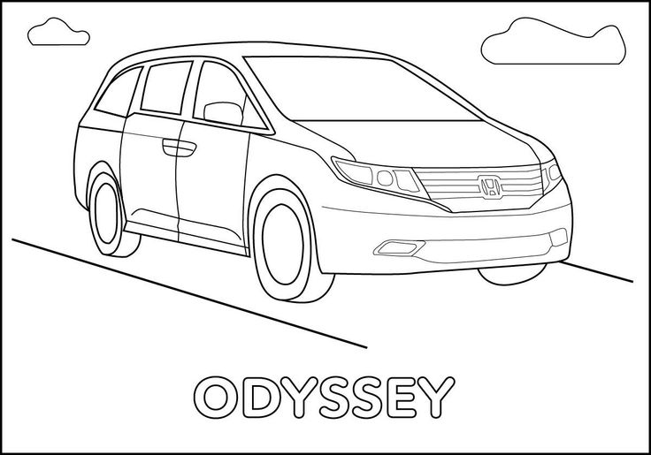 Honda Odyssey Coloring page