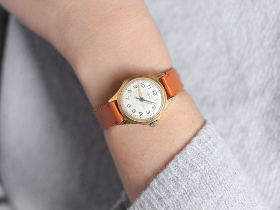 Ladies gold plated watch Vesna  vintage watch woman  by somesoviet