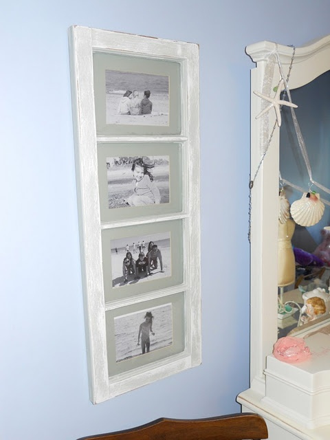 Window pane picture frames.