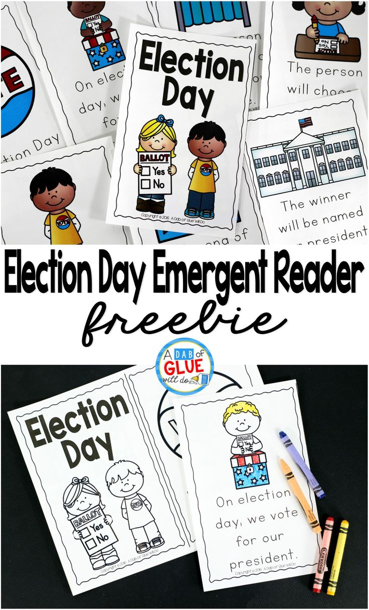 FREE Election Day Emergent Reader and Ballot activity. What a terrific way to integrate literacy and social studies!