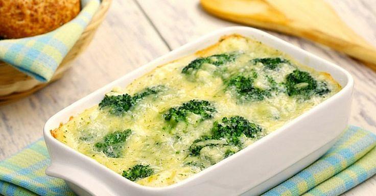 Zapékaná brokolice s houbami a sýrem | Čarujeme