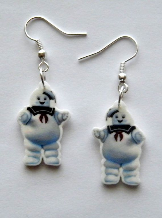 Ghost Busters Stay Puff Marshmallow Man Earrings by Murals4U, $7.99