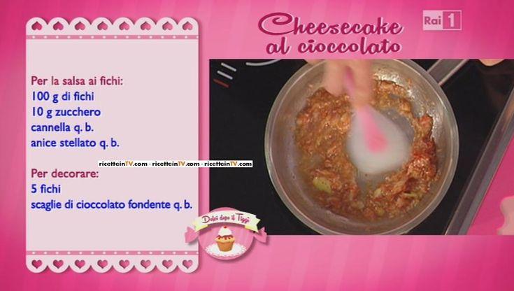 La ricetta della cheesecake al cioccolato di Guido Castagna del 14 ottobre 2014 - Dolci dopo il tiggì