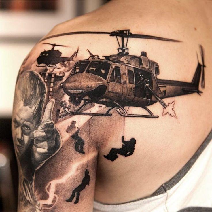 tatouage homme 3D bras et épaule par Niki Norberg                                                                                                                                                                                 Plus