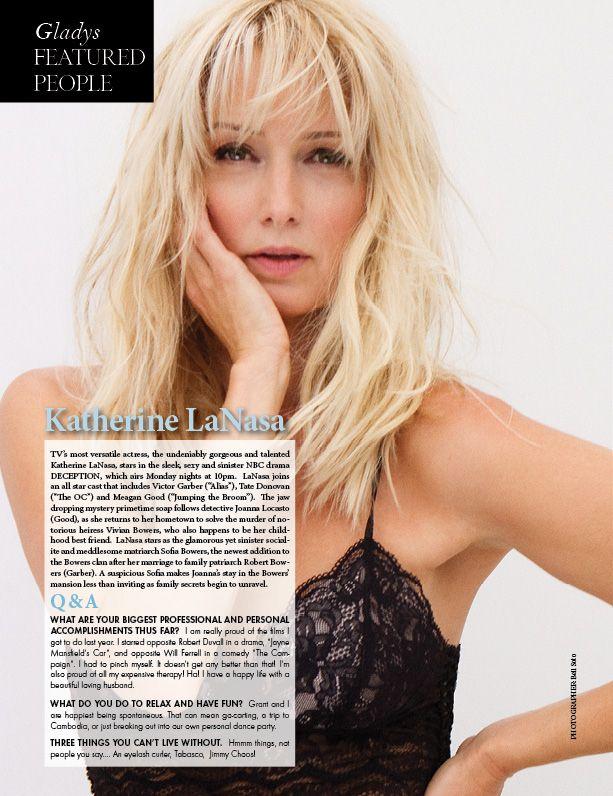 Katherine LaNasa Interview Gladys Magazine Wedding & Couture Issue 2013