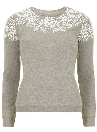 grey shoulder embellished sweat (inspiration only as no longer available)