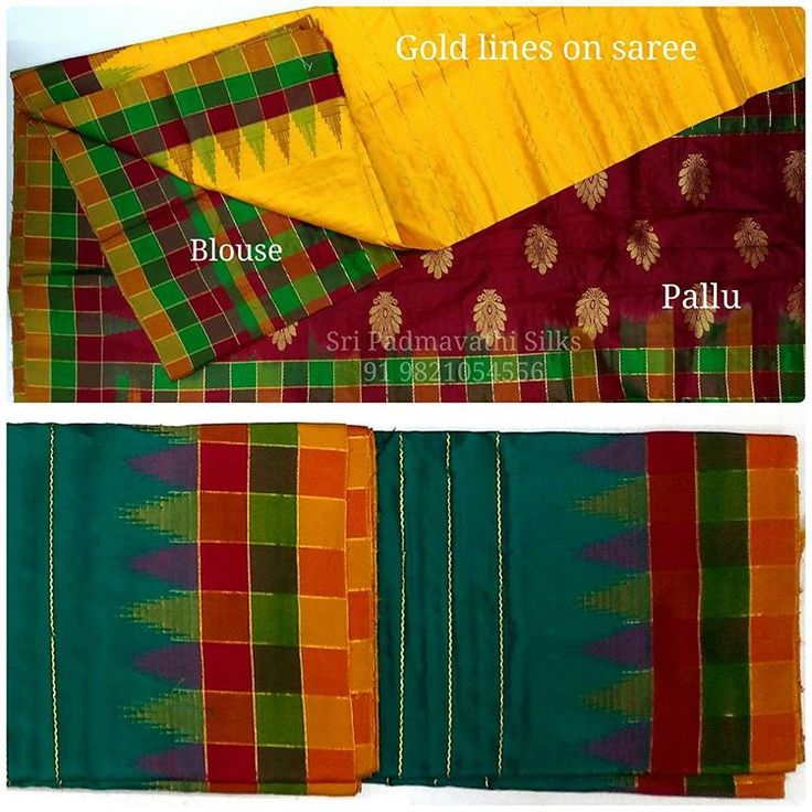 Gold and checks with Pure silk come together in our Hamsadhwani collection of sarees. Book now 91 9821054556 Sri Padmavathi Silks, the only South Indian store in Dombivli, India. Kancheepuram Silk Sarees in Mumbai. International shipping available. Wholesale orders accepted. #silksaree  #puresilk  #kancheepuramsaree  #checks  #celebrityfashion  #fashion  #beautiful  #love  #instagood  #instalove  #indianwear  #indianbride  #bride  #bridalfashion  #indianwedding  #multicolor  #malaysia…