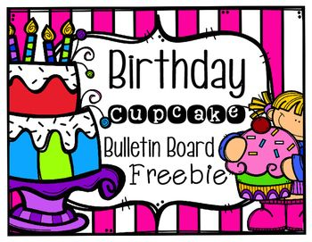 Add some color and fun to your classroom with this cute birthday bulletin board set!  Print, laminate, and cut each cupcake out.  Have students sign their name in the white part of the cupcake that matches their birthday month.  You may also have students write the date (number) under their name as well.