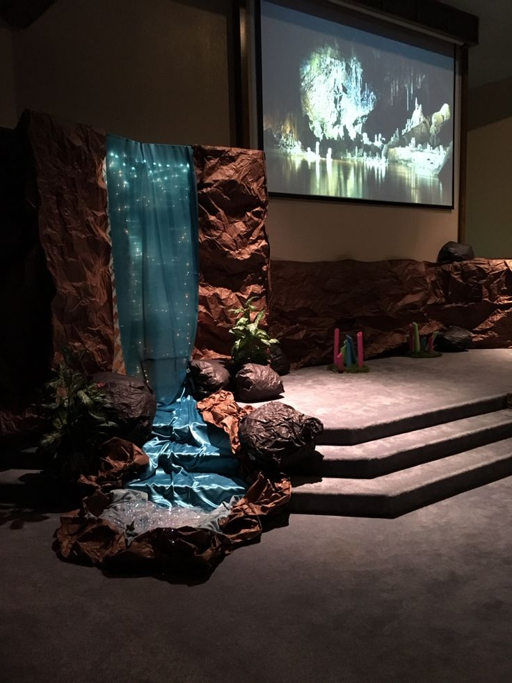 Cave quest VBS Waterfall decor