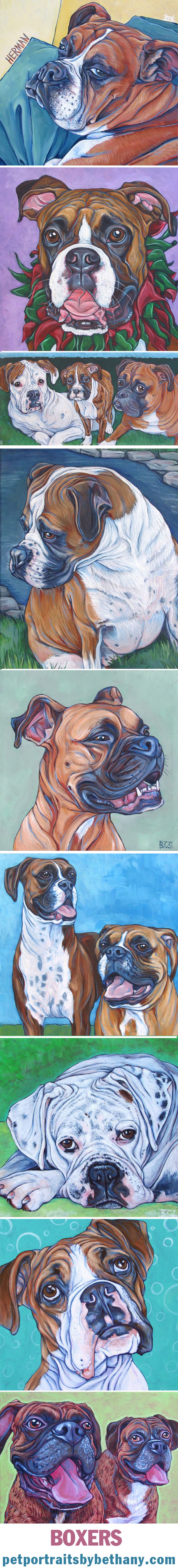 Paint on Canvas from Pet Portraits by Bethany.