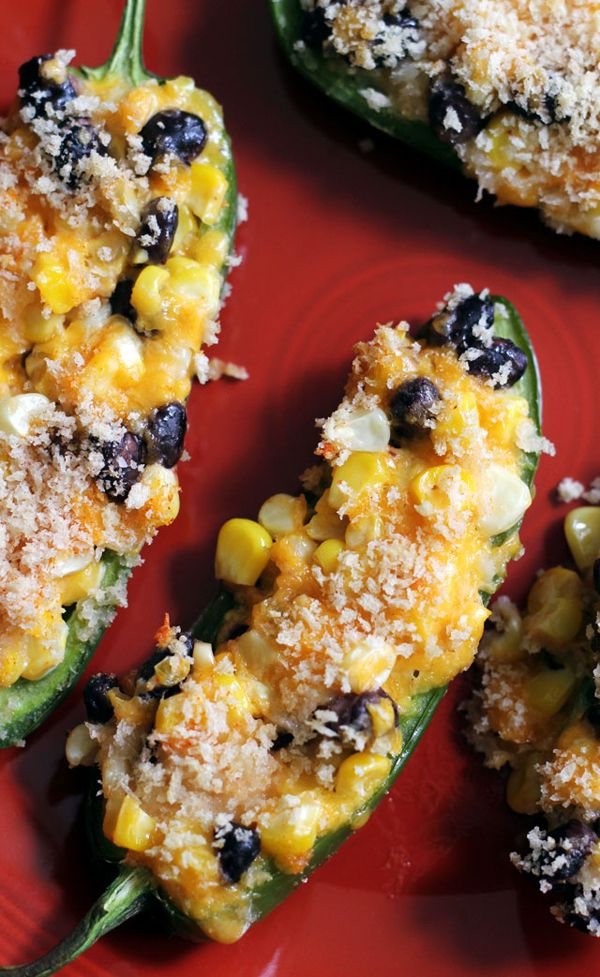 Black Bean Jalapeno Poppers