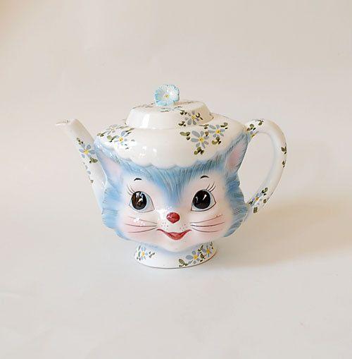 Vintage 1960's ceramic teapot.