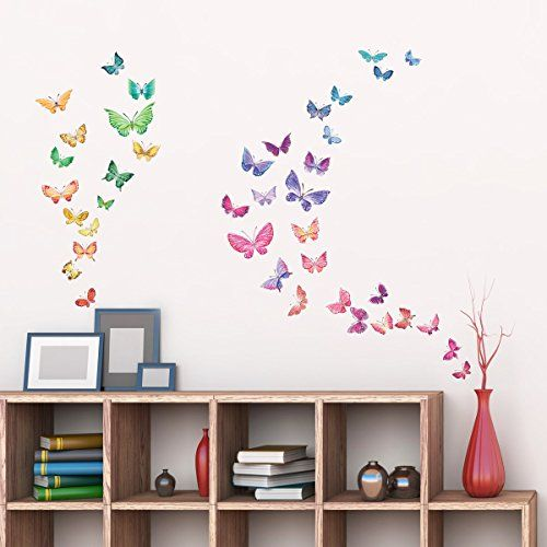 Decowall,DW-1602,Watercolor Butterflies peel & stick wall... https://www.amazon.co.uk/dp/B01FWYFDCI/ref=cm_sw_r_pi_dp_x_urRNyb8WVW2DR