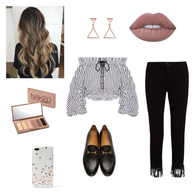 """""""Untitled #5"""" by cande-monier on Polyvore featuring Caroline Constas, Gucci, 3x1, Urban Decay and Kate Spade"""