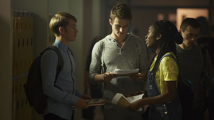 Charlie (Greg Austin), Matteusz (Jordan Renzo) and Tanya (Vivian Oparah) -- Class.S01E04 - ''Co-Owner of a Lonely Heart'' (Class - BBC Three Series) (Doctor Who - BBC Series) (BBC Three - Photo Gallery: Class - ''Co-Owner of a Lonely Heart'') pic: http://www.bbc.co.uk/programmes/p04drqw6/p04drqpn ; episode page: http://www.bbc.co.uk/programmes/p04dr5sg ; BBC Three - Photo Gallery: Class -'''Co-Owner of a Lonely Heart'' ; link: http://www.bbc.co.uk/programmes/p04drqw6